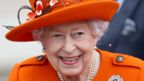 Queen Elizabeth II attends the launch of The Queen's Baton Relay for Birmingham 2022, the XXII Commonwealth Games at Buckingham Palace on October 07, 2021