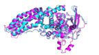 A DeepMind model of a protein from the Legionnaire's disease bacteria (Casp-14)