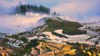 Sprawling Honghe Hani Rice Terraces in clouds in Yuanyang, China