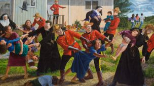 Canadian Cree artist Kent Monkman's The Scream